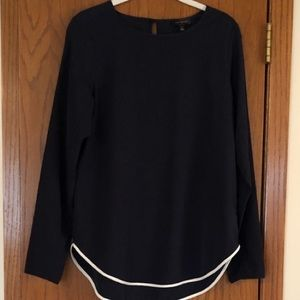 The Limited Navy Blouse with White Trim!